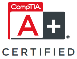 A+ Certified in information technology and computer repair